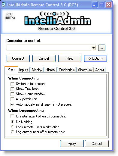 IntelliAdmin Remote Control