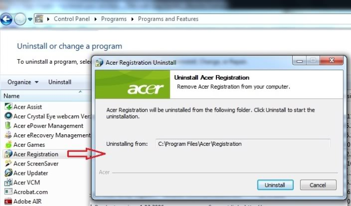 Acer Registration Reminder