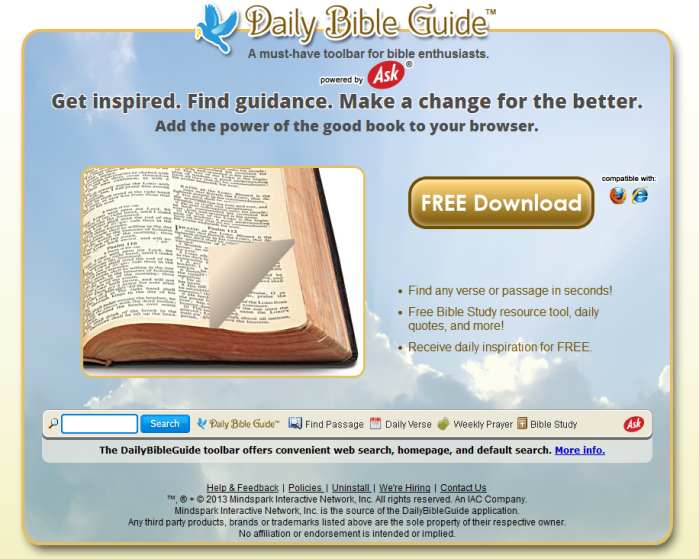 Daily Bible Guide Toolbar