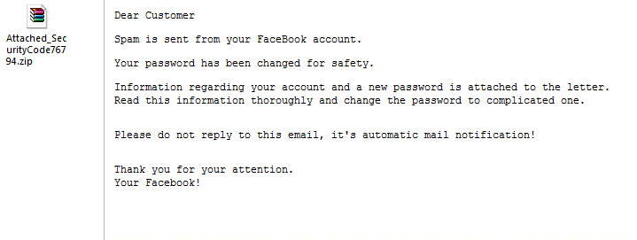 Facebook Abuse Department Virus