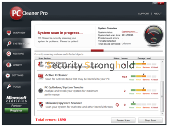 PC Cleaner Pro 2012