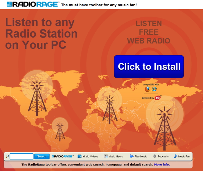 RadioRage Toolbar