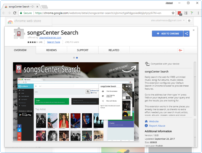 SongsCenter Search